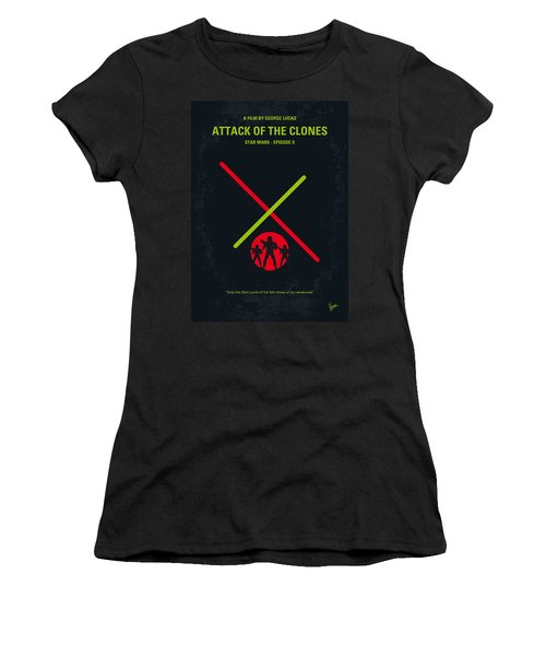 No224 My Star Wars Episode II Attack Of The Clones Minimal Movie Poster Women's T-Shirt