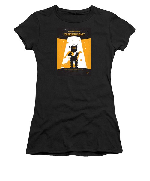 No415 My Forbidden Planet Minimal Movie Poster Women's T-Shirt