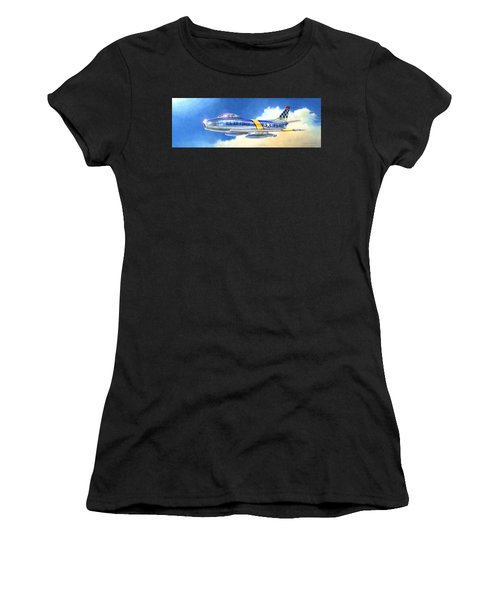North American F-86f Sabre Women's T-Shirt