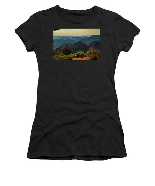 Women's T-Shirt (Junior Cut) featuring the photograph North Rim Grand Canyon Imperial Point by Bob and Nadine Johnston