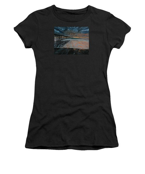 North Side Of The Ventura Pier Women's T-Shirt (Athletic Fit)
