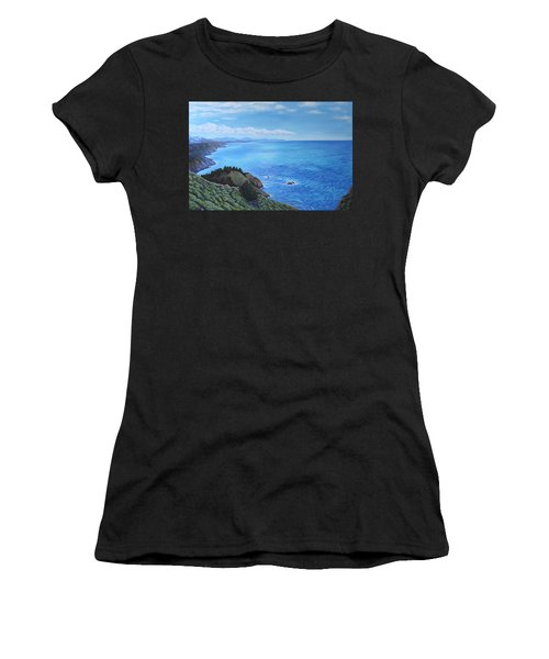 Northern California Coastline Women's T-Shirt (Athletic Fit)
