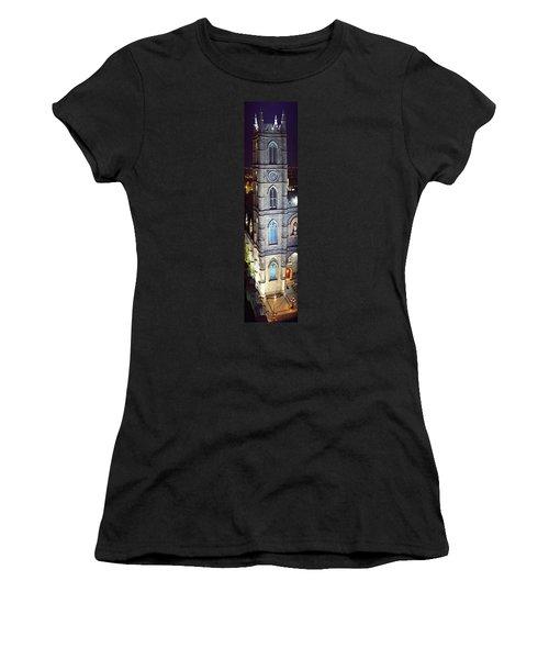 Notre Dame De Montreal At Night Women's T-Shirt
