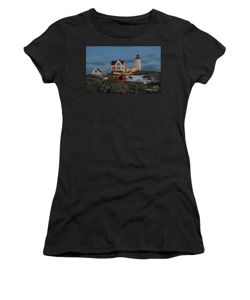Nubble Lighthouse At Christmas Women's T-Shirt