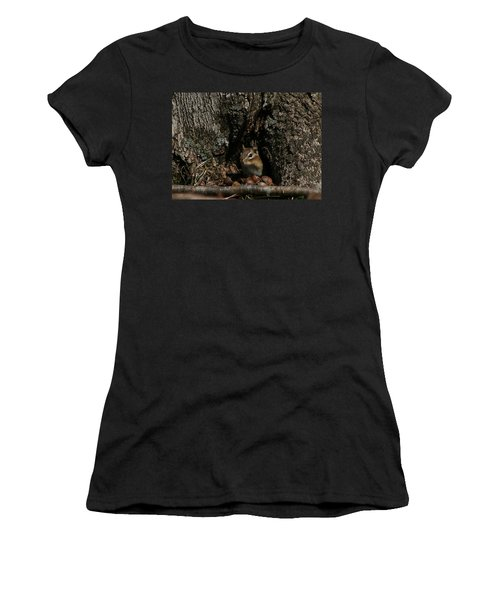 Women's T-Shirt (Junior Cut) featuring the photograph Nut Therapy  by Neal Eslinger