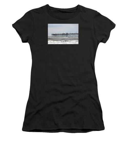 Oak Island Beach Pier Women's T-Shirt