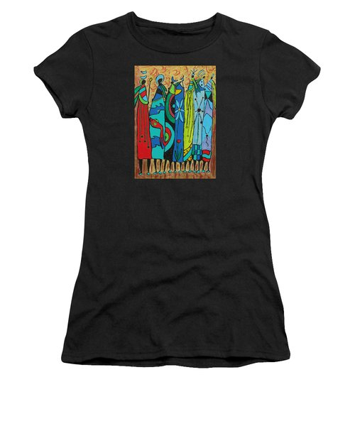 Women's T-Shirt (Junior Cut) featuring the painting Oceania by Clarity Artists