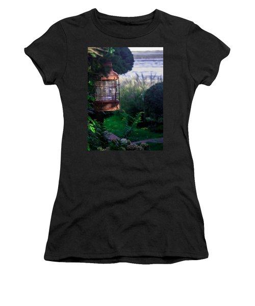 Women's T-Shirt (Junior Cut) featuring the photograph Oceanside Lantern by Patrice Zinck