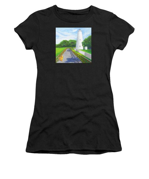 Ocracoke And Friend Women's T-Shirt (Athletic Fit)