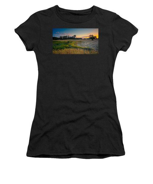 October Evening On The Farm Women's T-Shirt (Athletic Fit)