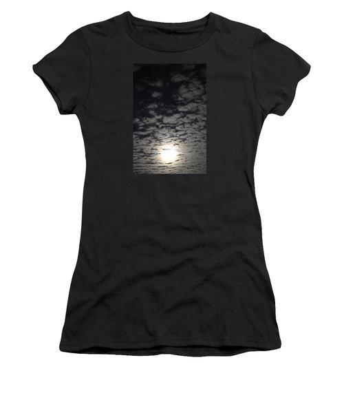 October Moon Women's T-Shirt (Junior Cut) by Joel Loftus