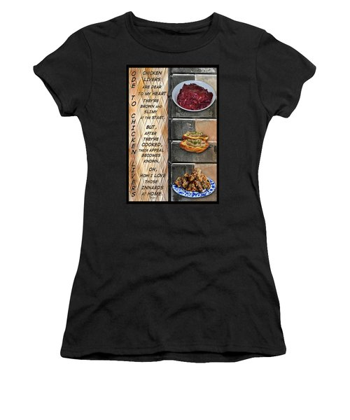 Ode To Chicken Livers Women's T-Shirt (Athletic Fit)