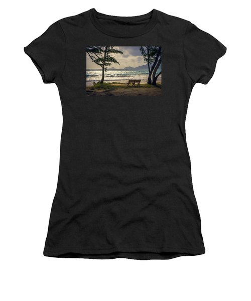 Women's T-Shirt (Athletic Fit) featuring the photograph Oahu Sunrise by Steven Sparks