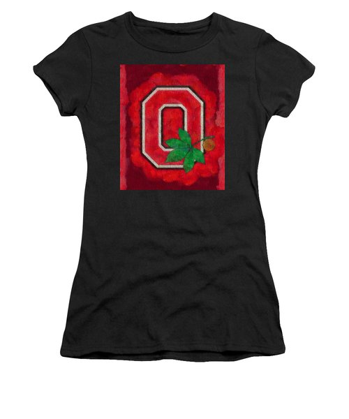 Ohio State Buckeyes On Canvas Women's T-Shirt (Athletic Fit)