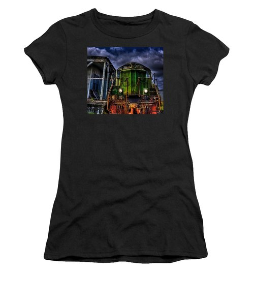 Women's T-Shirt (Junior Cut) featuring the photograph Old 6139 Locomotive by Thom Zehrfeld