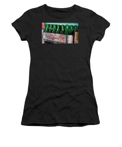 Old 7 Up Bottles Women's T-Shirt (Junior Cut) by Thomas Woolworth