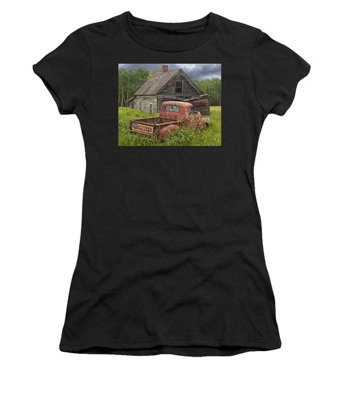 Old Abandoned Homestead And Truck Women's T-Shirt (Athletic Fit)