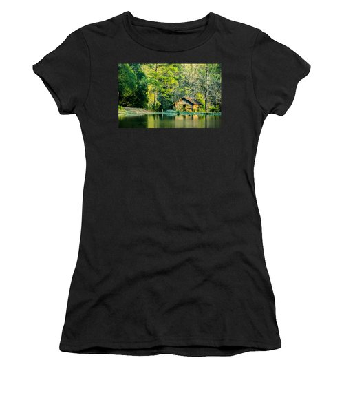 Old Cabin By The Pond Women's T-Shirt