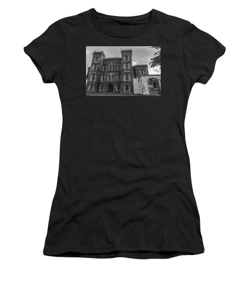 Old City Jail In Black And White Women's T-Shirt