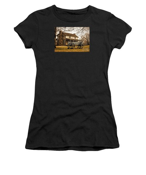 Old Log Cabin In Autumn Women's T-Shirt
