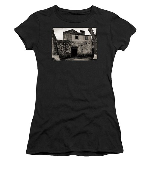Old Stone House And Wall  Women's T-Shirt (Athletic Fit)