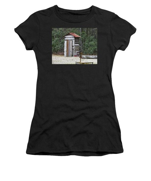 Old Time Outhouse And Pitcher Pump Women's T-Shirt
