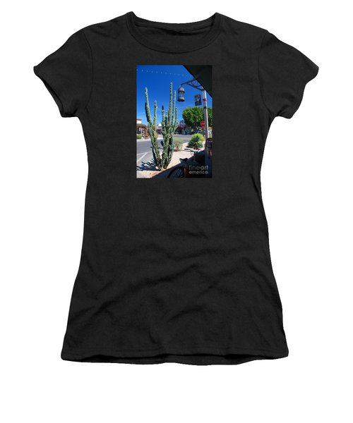 Old Town Cactus Women's T-Shirt (Athletic Fit)