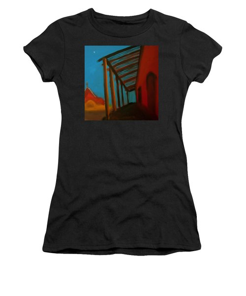 Women's T-Shirt (Junior Cut) featuring the painting Old Town by Keith Thue