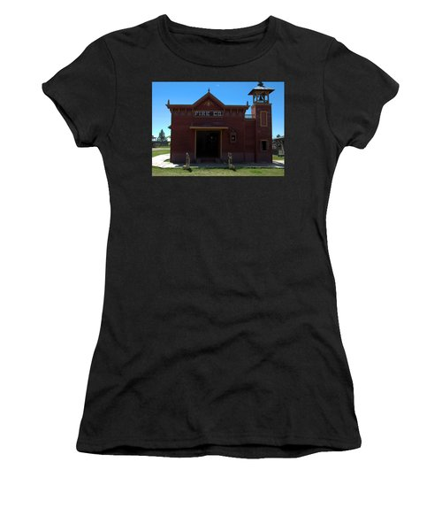 Old West Fire Station Women's T-Shirt (Athletic Fit)
