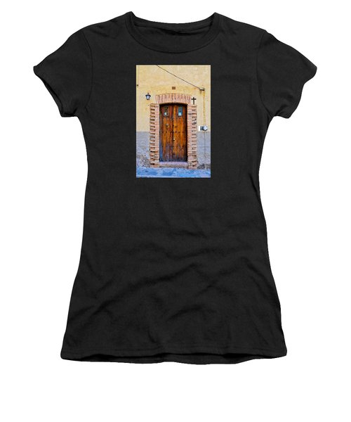Old Wooden Door - Mexico - Photograph By David Perry Lawrence Women's T-Shirt (Athletic Fit)