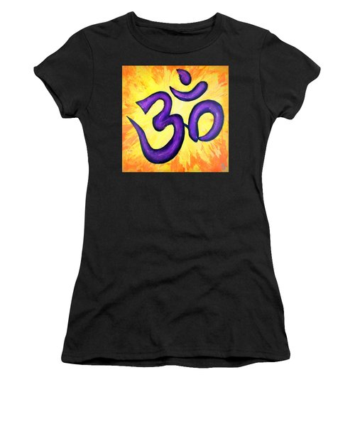 Om Symbol Art Painting Women's T-Shirt (Athletic Fit)