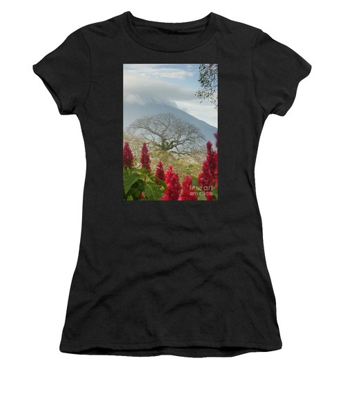 Ometepe Island 1 Women's T-Shirt (Junior Cut) by Rudi Prott