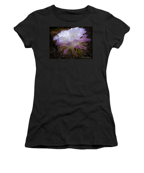 Women's T-Shirt (Junior Cut) featuring the photograph On The Edge by Lucinda Walter