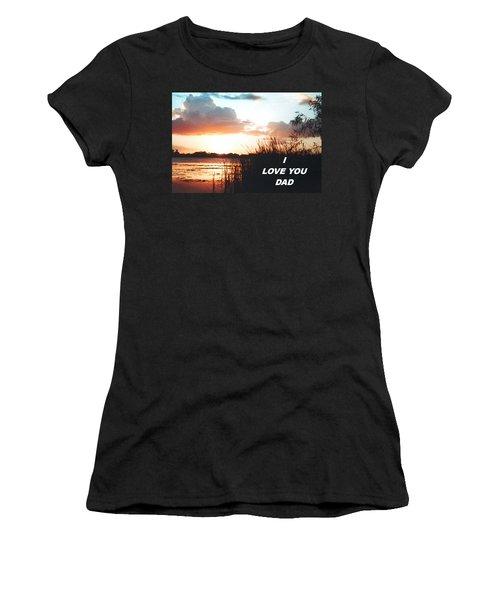 Lake Deer At Sunrise Women's T-Shirt (Junior Cut) by Belinda Lee