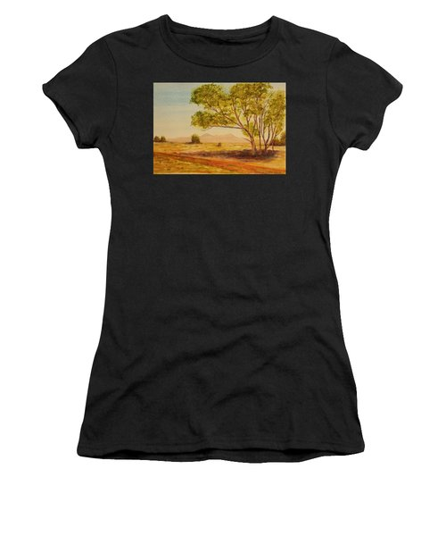 On The Road To Broken Hill Nsw Australia Women's T-Shirt (Athletic Fit)