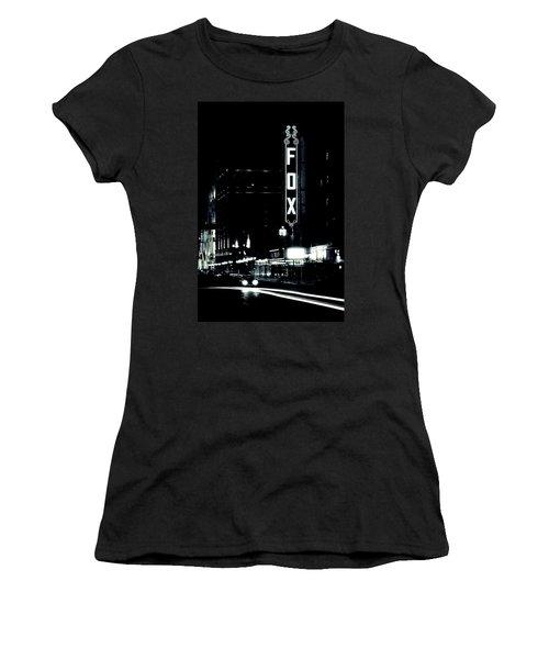 On The Town Women's T-Shirt (Junior Cut) by Scott Rackers