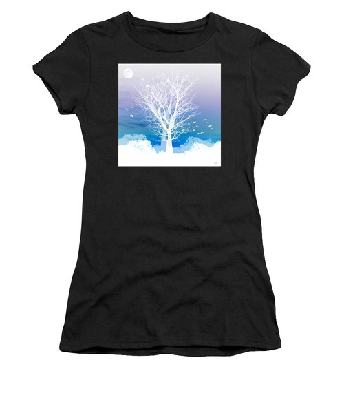 Once Upon A Moon Lit Night... Women's T-Shirt (Athletic Fit)