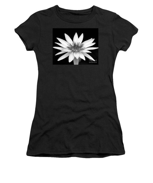 One Black And White Water Lily Women's T-Shirt