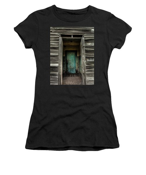 One Room Schoolhouse Door - Damascus - Pennsylvania Women's T-Shirt (Athletic Fit)