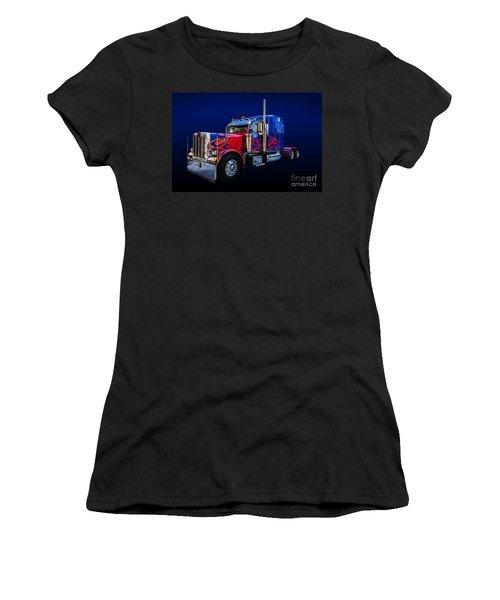 Optimus Prime Blue Women's T-Shirt (Athletic Fit)