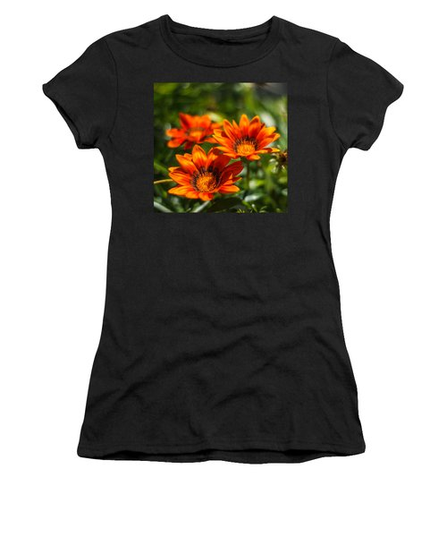 Women's T-Shirt (Junior Cut) featuring the photograph Orange Flowers by Jane Luxton