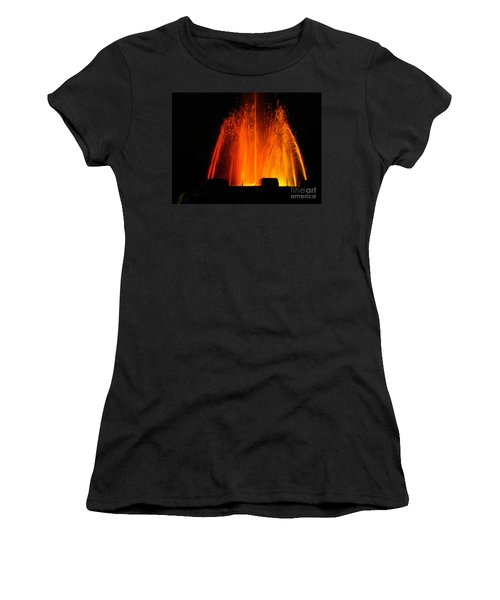 Women's T-Shirt (Athletic Fit) featuring the photograph Orange Lava by Clayton Bruster