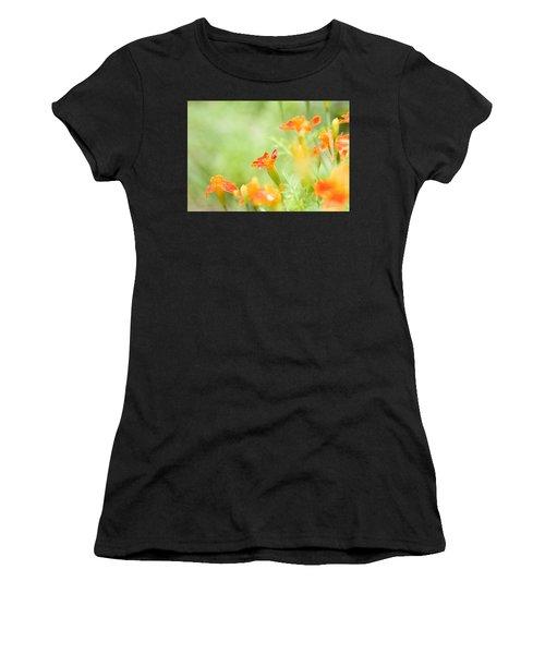 Orange Meadow Women's T-Shirt (Athletic Fit)