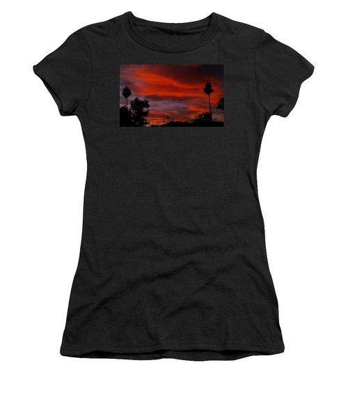 Orange Sky Women's T-Shirt (Athletic Fit)