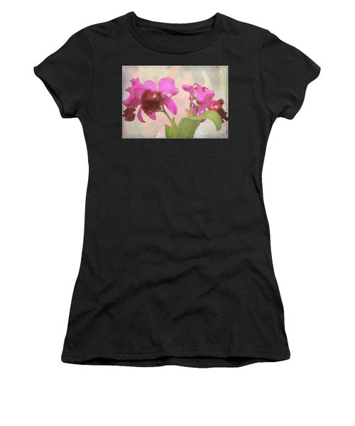 Orchid In Hot Pink Women's T-Shirt (Athletic Fit)
