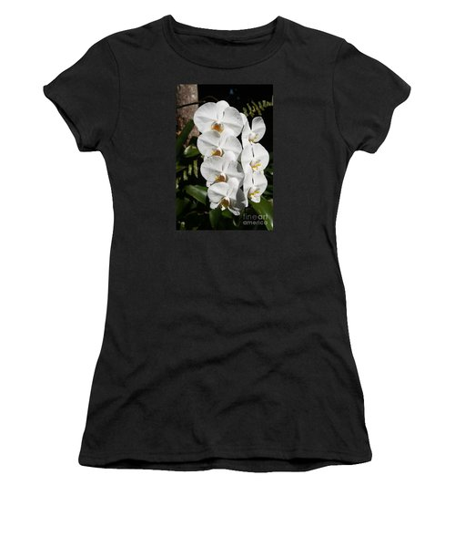 Orchids Anna Women's T-Shirt (Junior Cut) by The Art of Alice Terrill