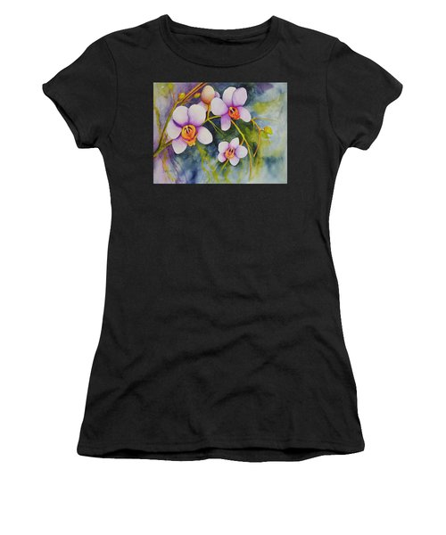 Orchids In My Garden Women's T-Shirt (Athletic Fit)