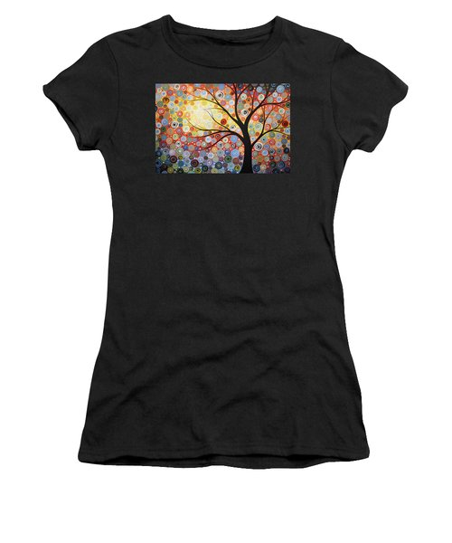 Original Painting Print Titled Celestial Sunset Women's T-Shirt (Junior Cut) by Amy Giacomelli