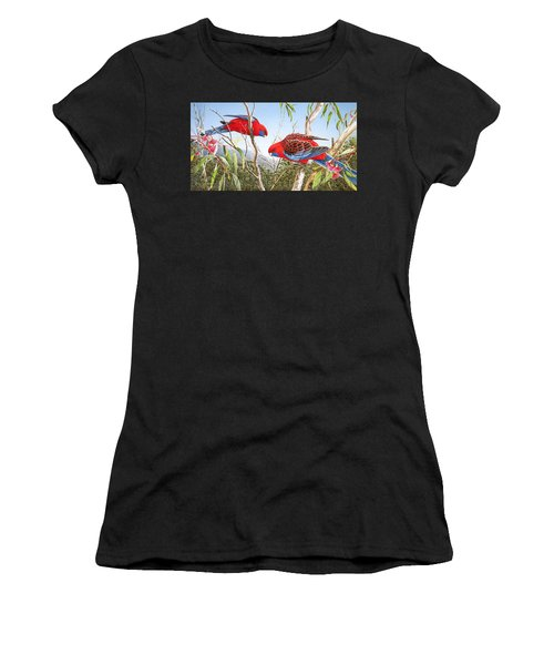 Our Beautiful Home - Crimson Rosellas Women's T-Shirt (Athletic Fit)