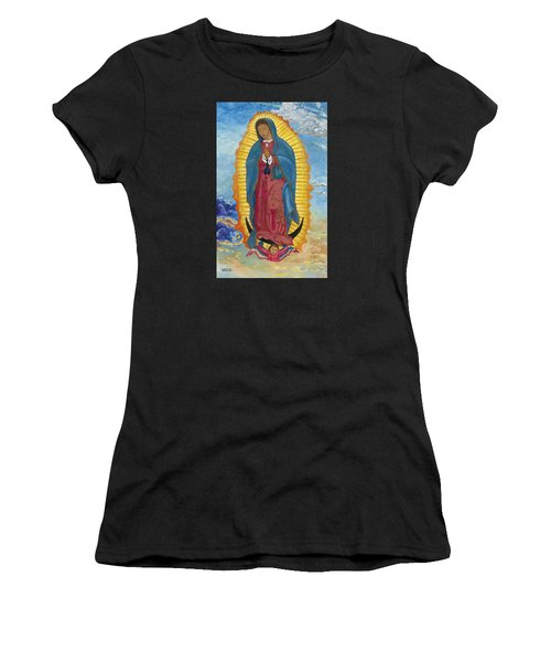 Our Lady Of Guadalupe-new Dawn Women's T-Shirt (Athletic Fit)